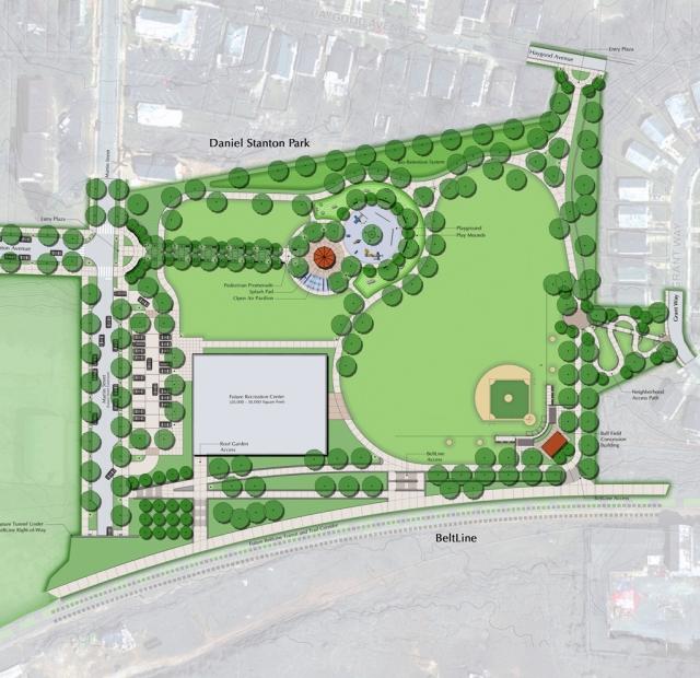 TSW stanton_park_master_plan Atlanta's D.H. Stanton Park Grand Reopening In The News Landscape Architecture  TSW   TSW