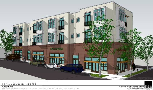 TSW vcp_model_114 Vine City Plaza, an urban retail building, is complete Uncategorized  TSW   TSW
