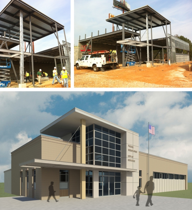TSW suwanee_construction Suwanee Police Substation Under Construction Uncategorized  TSW   TSW